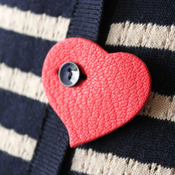 Broche coeur accessoire de mode made in France